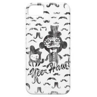 Yee-Haw! Funny characters and mustaches pattern. iPhone 5 Cases