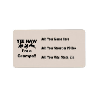 Yee Haw I'm a Grampa T-shirts and Gifts Label