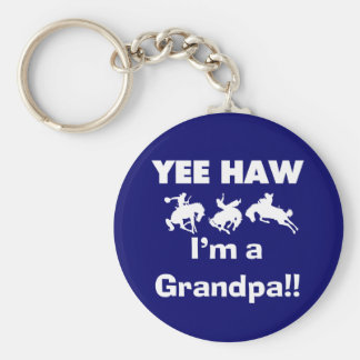 Yee Haw I'm a Grandpa T-shirts and Gifts Basic Round Button Keychain