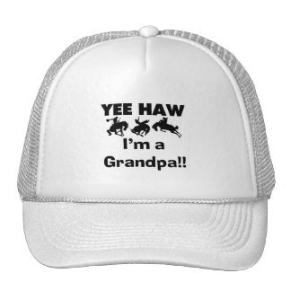 Yee Haw I'm a Grandpa T-shirts and Gifts Trucker Hat