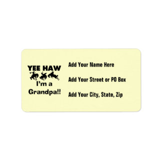 Yee Haw I'm a Grandpa T-shirts and Gifts Label