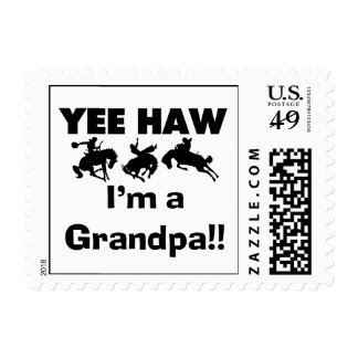 Yee Haw I'm a Grandpa T-shirts and Gifts Stamps