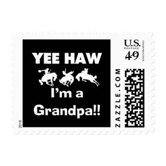 Yee Haw I'm a Grandpa T-shirts and Gifts Postage Stamp