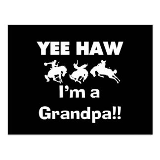 Yee Haw I'm a Grandpa T-shirts and Gifts Postcard