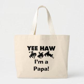 Yee Haw I'm a Papa T-shirts and GIfts Jumbo Tote Bag