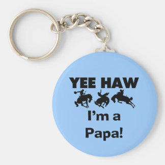 Yee Haw I'm a Papa T-shirts and GIfts Keychain