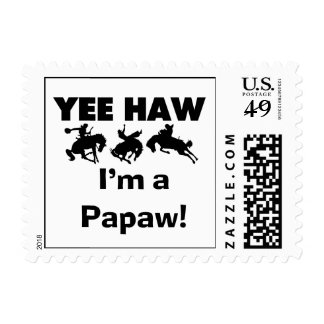 Yee Haw I'm a Papaw T-shirts and Gifts Stamps