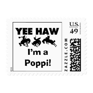 Yee Haw I'm a Poppi T-shirts and Gifts Postage Stamp