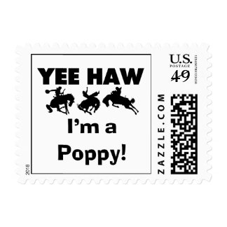 Yee Haw I'm a Poppy T-shirts and Gifts Stamps