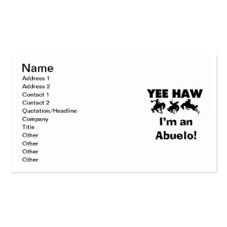 Yee Haw I'm an Abuelo T-shirts and Gifts Double-Sided Standard Business Cards (Pack Of 100)
