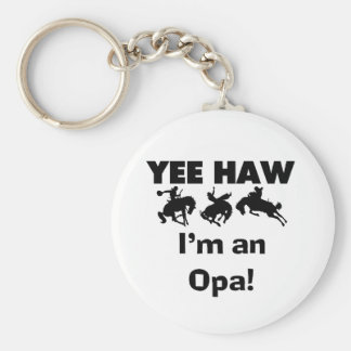Yee Haw I'm an Opa T-shirts and Gifts Keychains