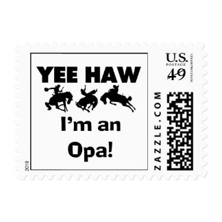 Yee Haw I'm an Opa T-shirts and Gifts Stamp
