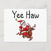 Yee Haw Santa Holiday Card