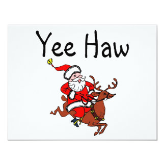 Yee Haw Santa 4.25x5.5 Paper Invitation Card