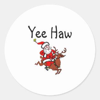 Yee Haw Santa Stickers