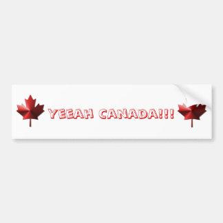 Yeeah Canada Flag Maple Leaf Bumper Sticker