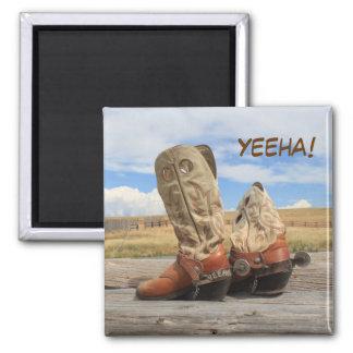 ¡Yeeha! Imán occidental de la bota