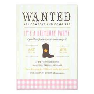 ¡Yeehaw! Invitación de la fiesta de cumpleaños de