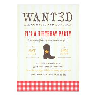 ¡Yeehaw! Invitación de la fiesta de cumpleaños del