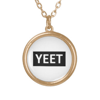 Yeet Dance Slang Teen Youth Swag YEET! LOL YOLO Gold Plated Necklace