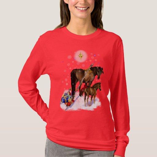 Yegua del navidad y camisa del bebé