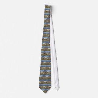 Yegua y potro (caballos) corbata personalizada