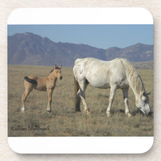 Yegua y potro (caballos) posavasos