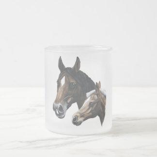 yegua y potro tazas de café