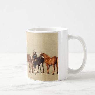 Yeguas y potros taza de café