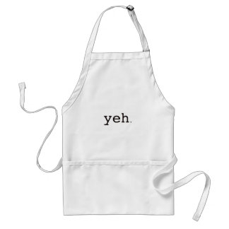 Yeh. Black Blue Red Adult Apron