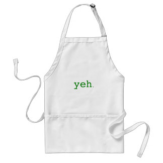 Yeh. Yellow Green Pink Adult Apron
