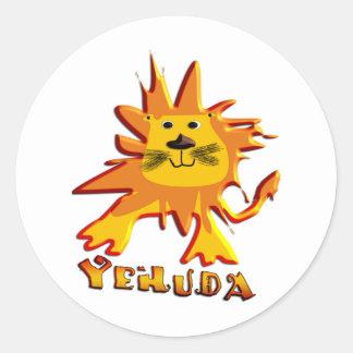 Yehuda Pegatina Redonda