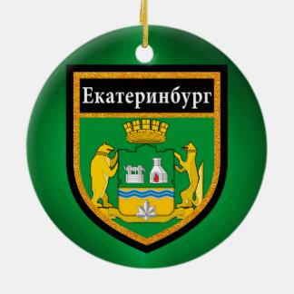 Yekaterinburg Flag Ceramic Ornament