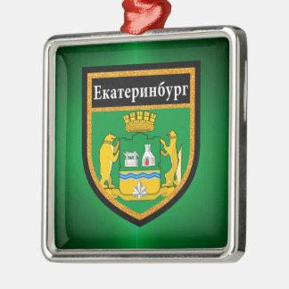 Yekaterinburg Flag Metal Ornament