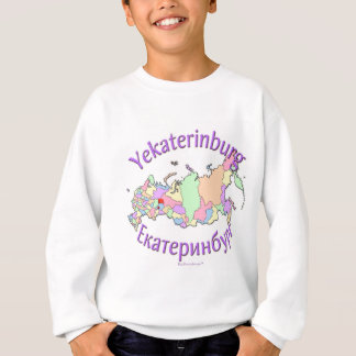 Yekaterinburg Russia Map Sweatshirt