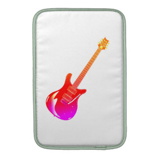 Yel gráfico de la guitarra rosado funda  MacBook