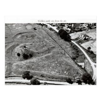Yelden castle mound postcard