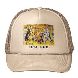Yell Fur Truckers Hat