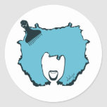 YELL OUT LOUD in BLUE Round Sticker