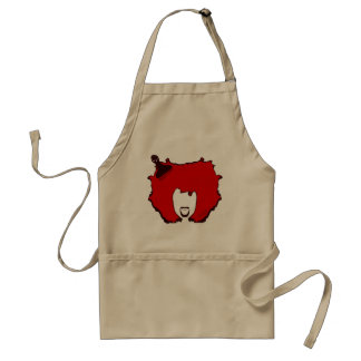 YELL OUT LOUD in RED Adult Apron