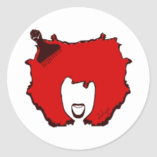 YELL OUT LOUD in RED Classic Round Sticker