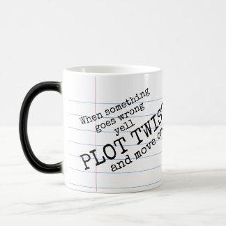 """Yell PLOT TWIST! & Move On"" Morphing Mug"