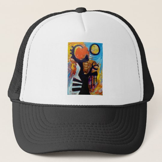 Yelling at the Sun by Piliero Trucker Hat