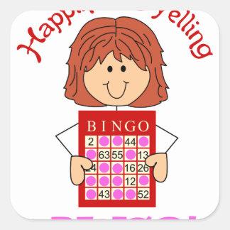 Yelling Bingo Square Sticker
