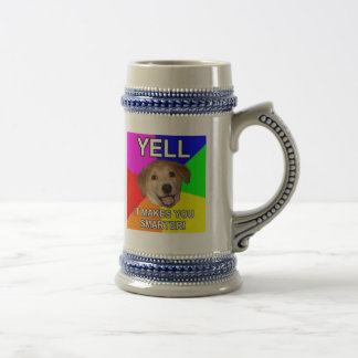 Yelling Makes You Smarter Beer Stein