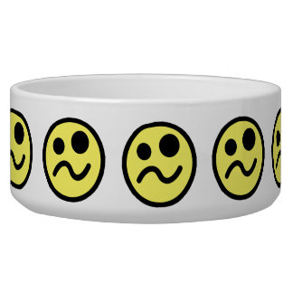 Yelllow Confused Smiley Face Bowl