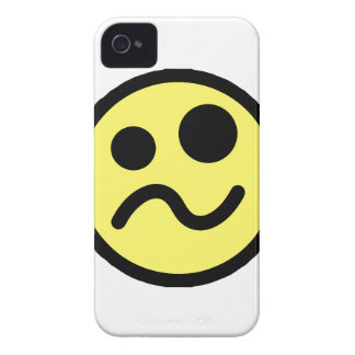 Yelllow Confused Smiley Face iPhone 4 Case-Mate Case