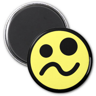 Yelllow Confused Smiley Face Magnet