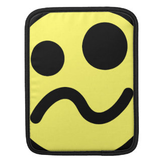 Yelllow Confused Smiley Face Sleeves For iPads