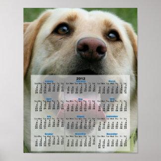 Yelllow Labrador Retriever 2012 calendar poster